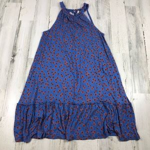 LOFT blue sleeveless dress size large